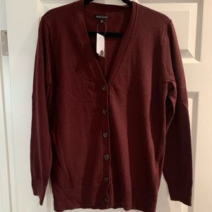 Jcrew Mercantile Burgundy Cardigan